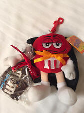 M&M's RED Count Dracula Clip-On Plush Key Chain Hanger NWT HTF 2003