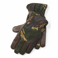 Men's $105 (S-M) POLO-RALPH LAUREN Wool-lined Deerskin Leather CAMO Gloves