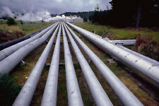 799041 Steam Pipes At Wairakei Geothermal Generating Station New Zealand A4 Phot