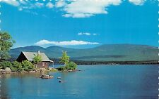 RIMOUSKI QUEBEC CANADA HOTEL ST LOUIS~BEAU POINT DE VUE~PEACEFUL POSTCARD 1960s