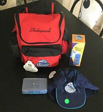 One Bluey Fishing Kit ,Back Pack 1 Sun Hat 1 Stainless Steel Flask 1 Tackle Box