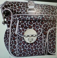 NEW UNIQUE STYLISH MIMCO TRAVEL WEEKEND GYM BABY NAPPY FABRIC LEATHER BAG