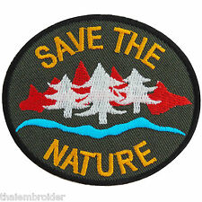 Save the Nature Energy Tree Water Love Earth World Forest Iron on Patch #A007