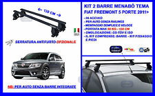 Barre Portatutto Portapacchi Acciaio - Fiat Freemont 2011  5p Menabò Tema