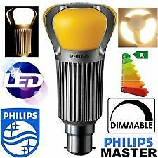Philips 12W MASTER LED Bulb (60W Replacement) Warm White 2700K Dimmable B22