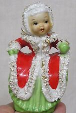 Vintage Christmas Napco Angel Bell Thick Spaghetti Art Trim 1950s