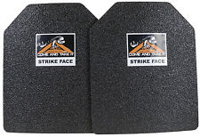 CATI AR500 Body Armor Steel Plates Base Frag Coating Level III 10x12 PAIR