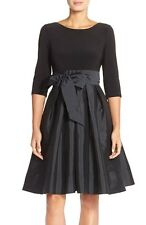 Adrianna Papell Bow Taffeta Fit & Flare Dress  (size 18W)