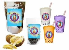 10+ Drinks Durian Tea Kit: Tea Powder, Bubbles & Straws by Buddha Bubbles Boba