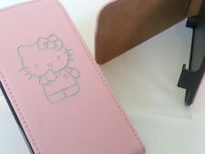 Samsung Galaxy S6 Borde Hello Kitty De Cuero Original Rosa Flip Phone Funda Protectora