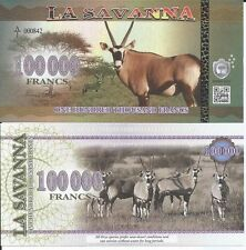 LA SAVANNA 100000 FRANCS 2016 LOTE DE 5 BILLETES