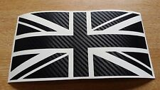 Large CARBON FIBRE Union Jack GB Car Sticker Decal Mini Jaguar Triumph Lotus