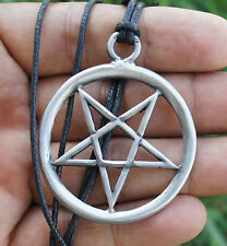 Big Magic Inverted Pentagram Pentacle Star Wicca Vintage inspired Pewter Pendant