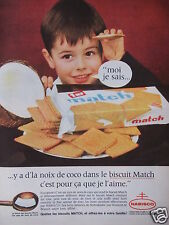 PUBLICITÉ 1962 BISCUIT MATCH A LA NOIX DE COCO PAR NABISCO - ADVERTISING
