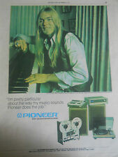 VINTAGE GREGG ALLMAN BROTHERS PIONEER MUSIC INSTRUMENT EQUIPMENT AD POSTER PINUP