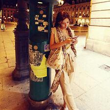 Chaud écharpe châle populaires la main-totem sculpté modèles longueur moderne