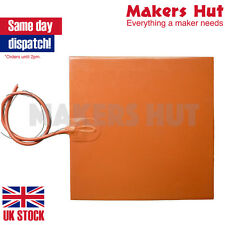 250mm Square Silicone Rubber Heater Pad – 200W – 24V – Thermistor 3D Printer