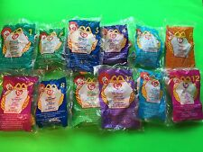 McDonald's TY Beanie Babies Happy Meal Toys '99 1 - 12 New