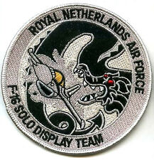 NETHERLAND AIR FORCE F-16 SOLO DISPLAY TEAM SWIRL PATCH