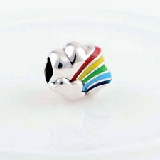 RAINBOW on CLOUD .925 Sterling Silver European Charm Bead