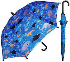 """32"""" Children Kid Shark-nado Umbrella - RainStoppers Rain/Sun UV"""
