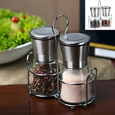 Stainless Steel Brushed Salt Mill Pepper Grinder Bottle With Glass Bottle