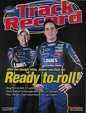 "2008 JIMMIE JOHNSON & CHAD KNAUS ""LOWES TRACK RECORD"" #48 NASCAR MAGAZINE"