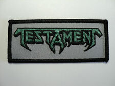 TESTAMENT EMBROIDERED PATCH IRON OR SEW
