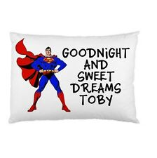 SUPERMAN Personalized childrens kids bed pillow case