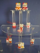 SUPER RARE SET HELLO KITTY BEADS, CRYSTAL KEY CHAINS, CHARMS, DECORATIONS,STRAPS