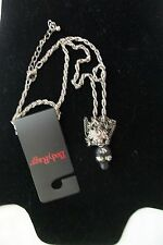 """Body Rage by Spencers Jeweled Skull w/Chain Design 18"""" Necklace **New**"""