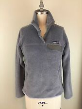 PATAGONIA SYNCHILLA Re-tool Pullover Sz Small Grey Blue PREOWNED