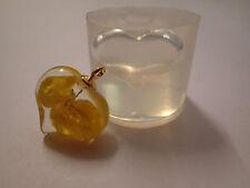 Corazón hinchado Resina Transparente de Silicona Molde Para Joyas H 21 X 25mm, espesor 12 mm