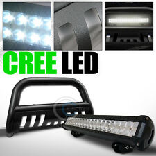 HAMMERED BLACK BULL BAR GUARD W/120W CREE LED FOG LIGHT 2009-2016 DODGE RAM 1500