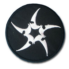 Shuriken Ninja Weapon Patch Embroidered Iron on Badge Emblem applique Star Kanji