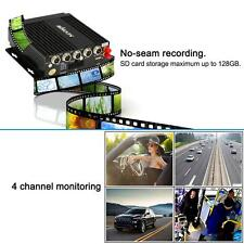 Mini 4CH Realtime SD 3G GPS Car Mobile DVR Video Recorder Remote Controller Y9K2
