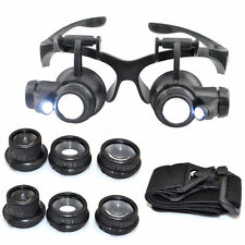 Magnifier Glasses LED For Locksmith Lock Set Pick Picking Goldsmith Тechnician