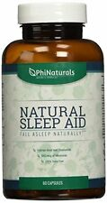 NEW Natural Sleep Aid  Remedy with Melatonin and Valerian Root  Phi Naturals