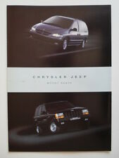 CHRYSLER & JEEP 1996 UK Market sales brochure with Dodge Viper GTS & Prowler