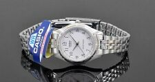 LTP-1129A-7B Casio White tone Stainless Steel Watch Ladies Date Water Resistant