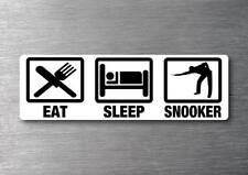 Eat Sleep Snooker sticker 7 year water & fade proof vinyl sticker