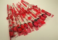 12 Single Red Wooden Roses in Cello Sleeve - Valentines