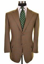 Ermenegildo Zegna 15 Milmil 15 Green Brown FLANNEL Sport Coat Jacket 48 38 S