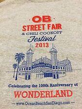 2013 Ocean Beach Street Fair Chili Cook Off Shirt OB San Diego CA Rare surf pier