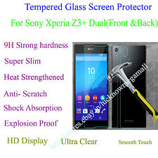 Front & Back Tempered Glass Back Case Cover Protector Sony Xperia Z3+ Plus Dual