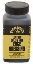 NEW Fiebing's Leather Sole & Heel EDGE DRESSING 4 Oz. renews BROWN on Boot/Shoe