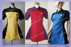 Star Trek TNG Uniform Halloween Party Dress Ball Gown Cosplay Costume+3 Colors!