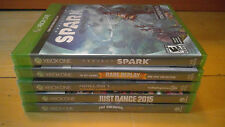 Lof of 5 brand new Xbox One games: Minecraft Story Mode, Just Dance 2015, Spark,