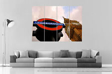 London Londres Underground Big Ben  Wall Art Poster Grand format A0 Large Print