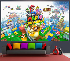 Wallpaper Mural Super Mario 3D World Game Amazing 100x170cm, Kids room, 2 panels